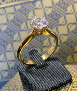 Yellow & White Gold Solitaire Ring