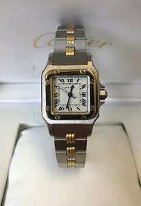 Cartier Santos 24mm Automatic Bi/Colour