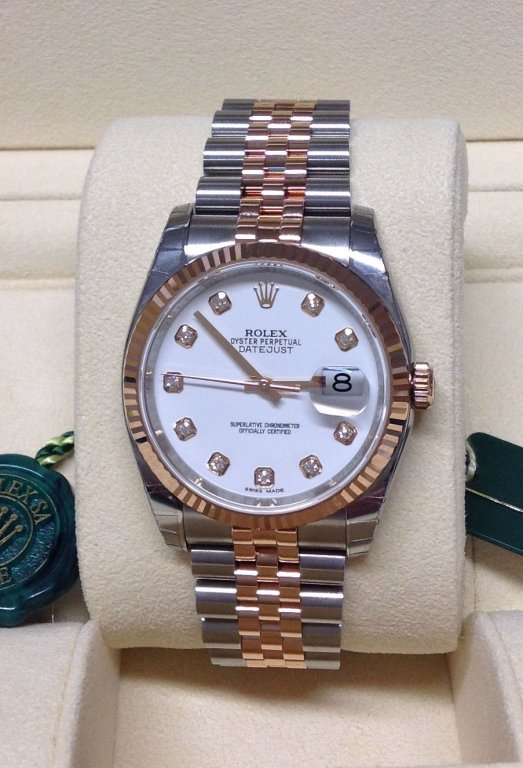 Rolex Datejust 36mm 116231 Diamond Dial Unworn