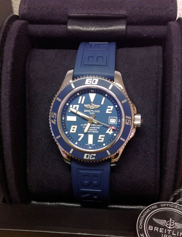 The breitling watch blog » breitling superocean 42 cool blue.