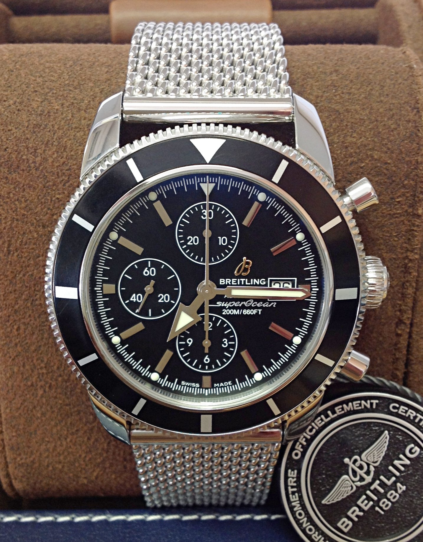 Breitling Superocean Heritage A13320 Black Dial Chronograph