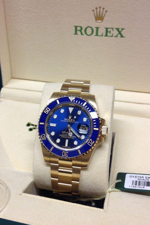 sale retailer 2ca4a e3ed8 Rolex Submariner Date 116618LB Yellow Gold 2016