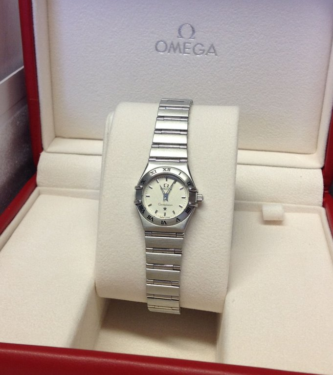 Omega Constellation 95' 1562.30.00 ladies 22.5mm Ivory Baton Dial Recently Serviced