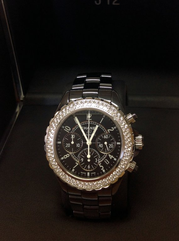 Chanel J12 Chronograph H1009 Diamond Bezel