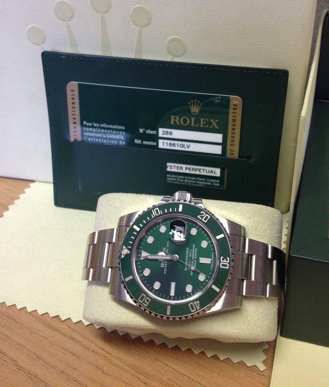 Rolex Submariner Date 116610LV Green Ceramic \u0027Hulk\u0027 From 2012