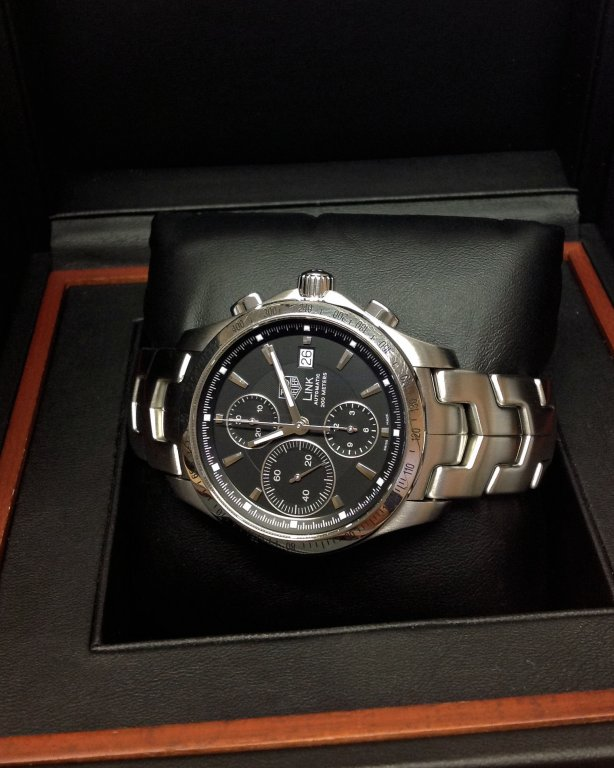 def663bee1f6 Tag Heuer Link Chronograph CJF2110-0 Black Dial 2011