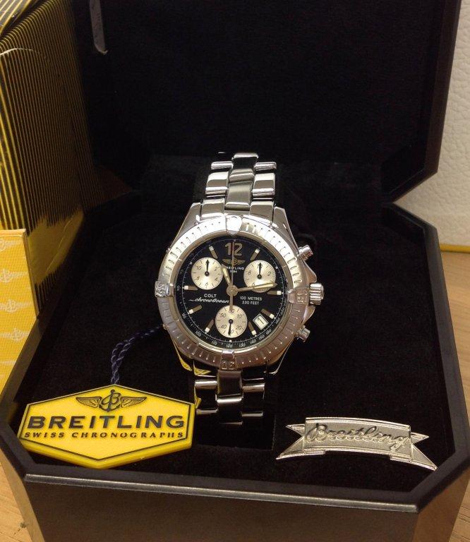 47575613a06 Breitling Colt Chrono Ocean A53050 Black Dial