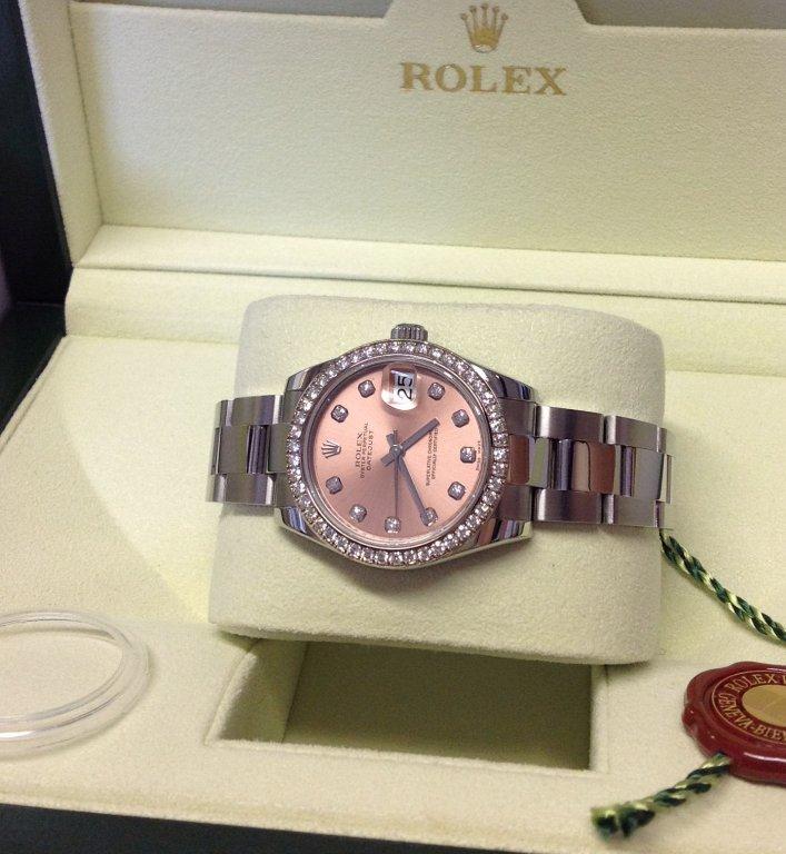 Rolex Datejust Lady 31mm 178384 Pink Diamond Dial