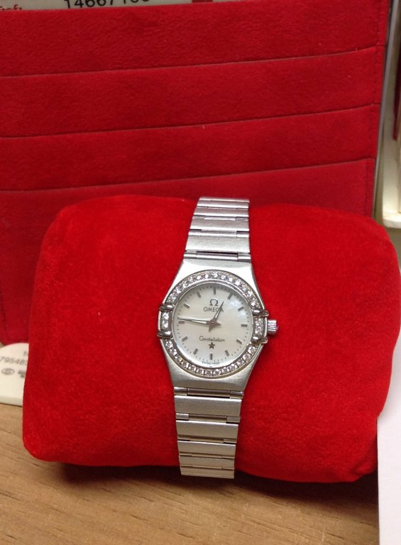 Omega Constellation Mini 1466.71.00 Diamond Bezel