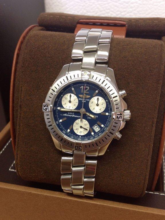8987cd60d6a Breitling Colt Chrono Ocean A53050 Blue Dial