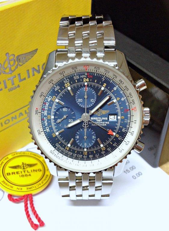 Breitling Navitimer World A24322 Blue Dial