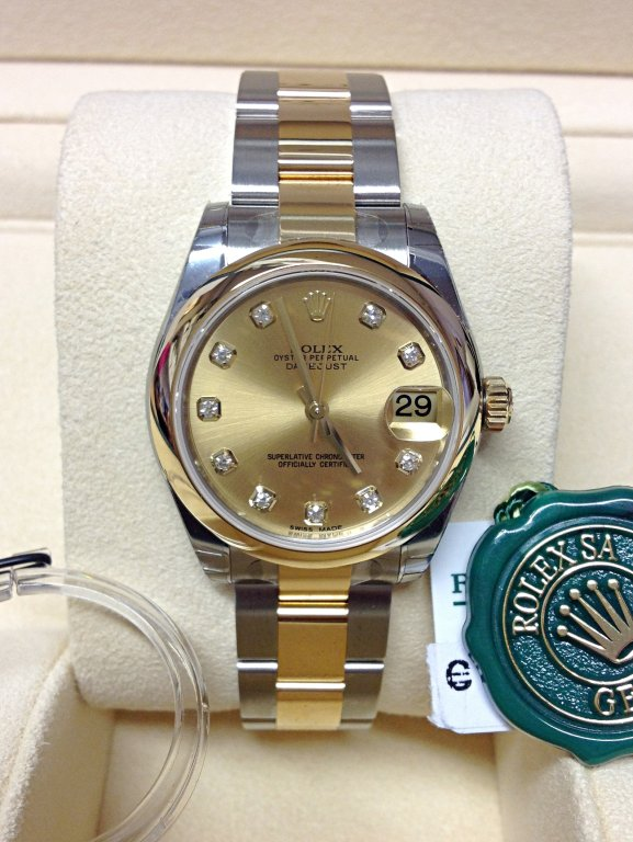 Rolex Datejust 31mm 178243 Champagne Diamond Unworn
