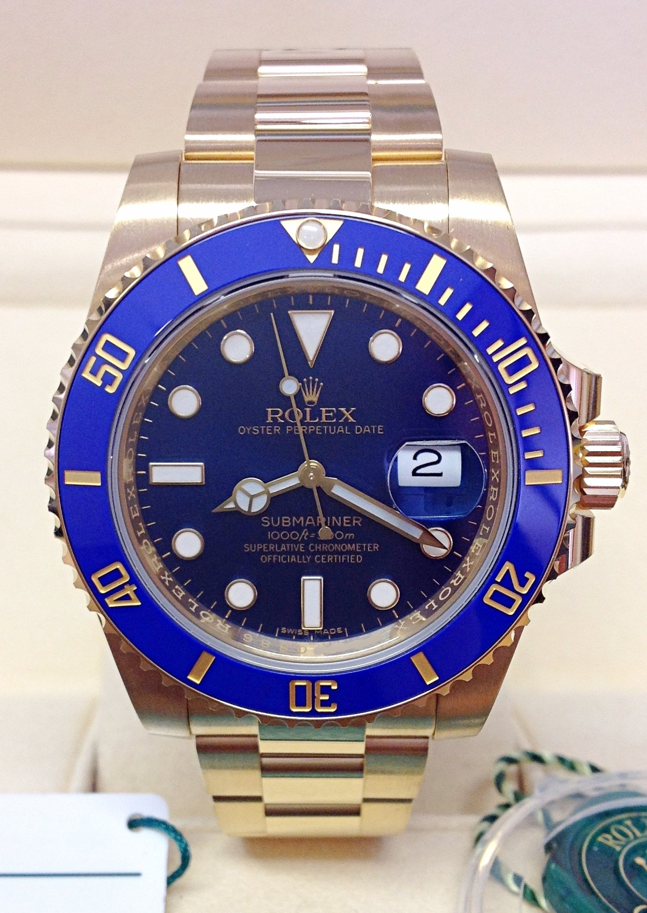 Rolex Submariner Date 116618LB Yellow Gold Unworn