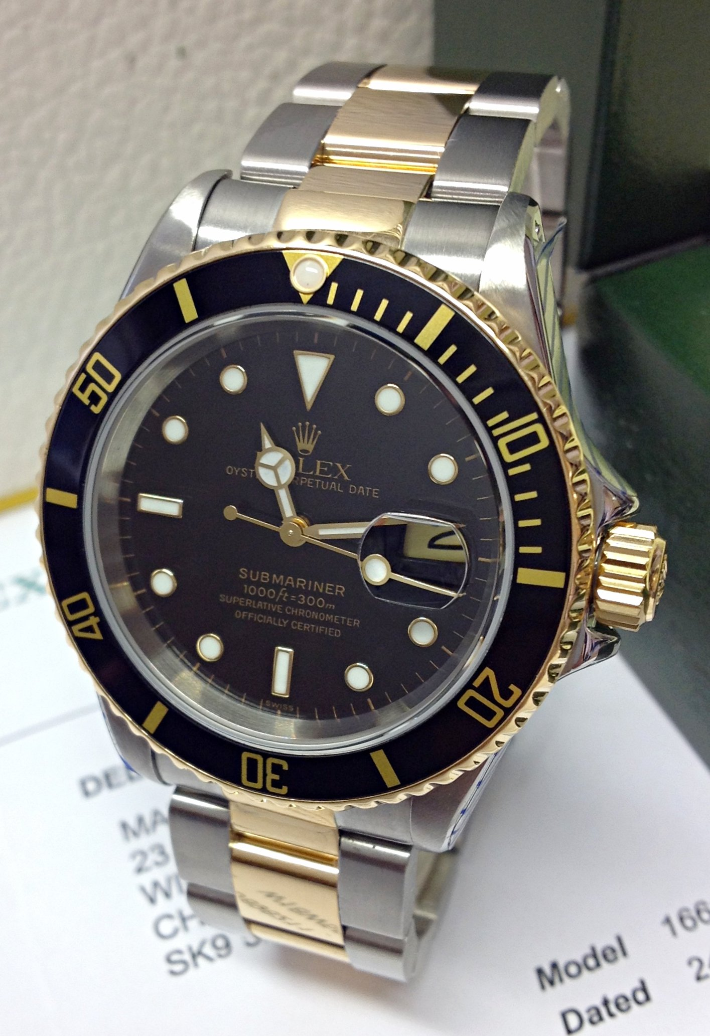 Rolex Submariner Date 16613LN Bi/Colour
