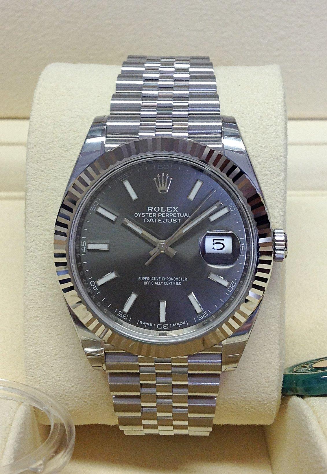Rolex Datejust 41mm 126334 Rhodium Dial Unworn