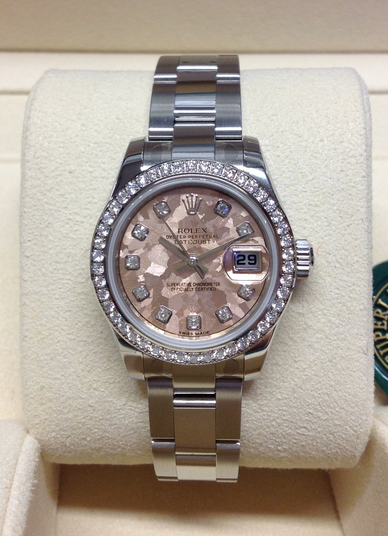 c52da360761b4 Rolex Datejust Lady 179384 26mm Diamond Bezel