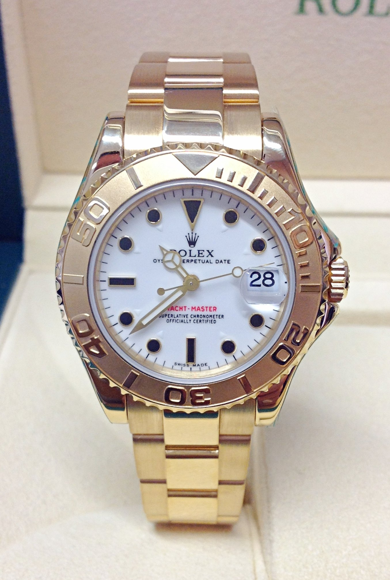 Rolex Yacht-Master 168628 35mm Yellow Gold