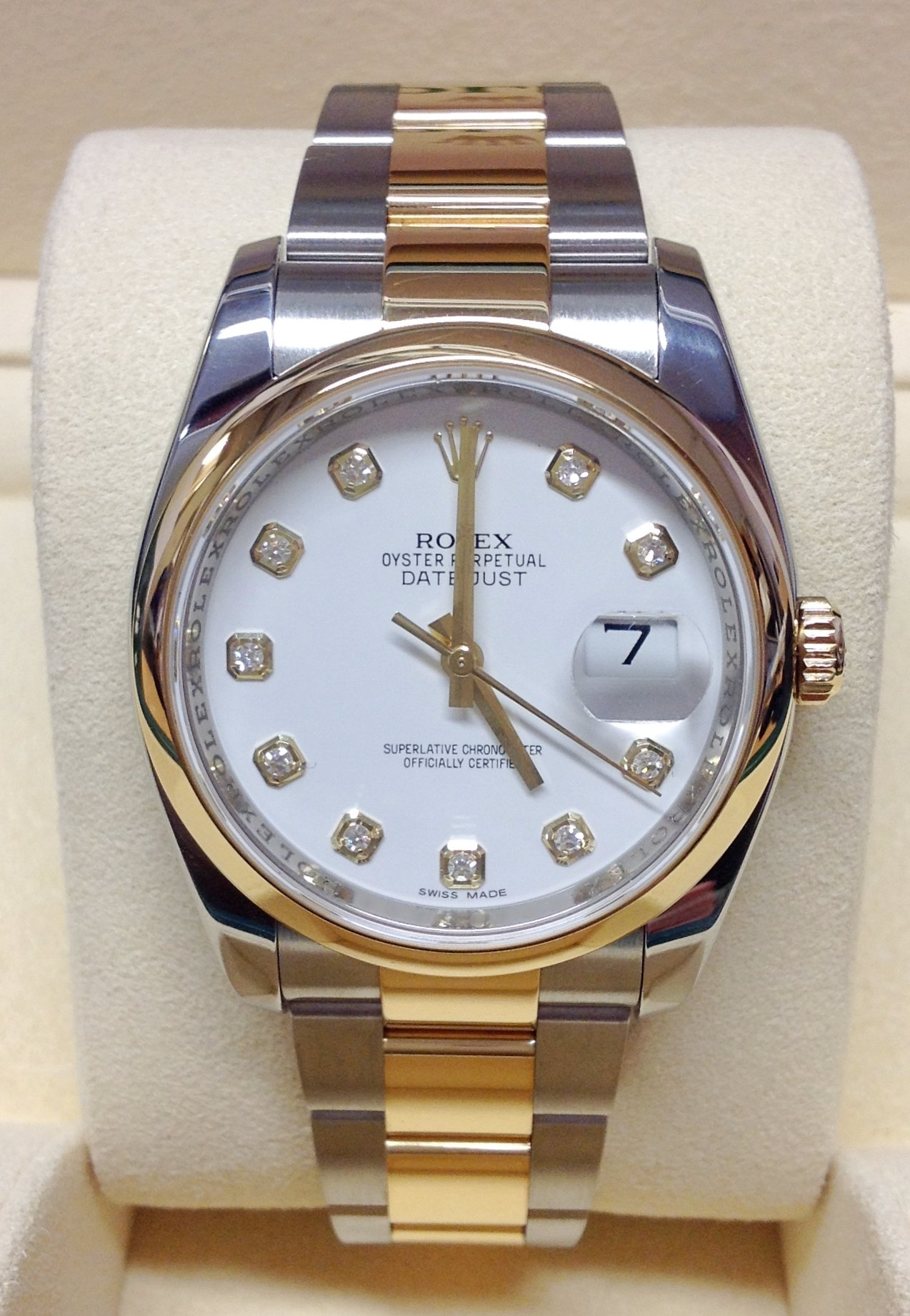 Rolex Datejust 36mm 116203 Diamond Dial