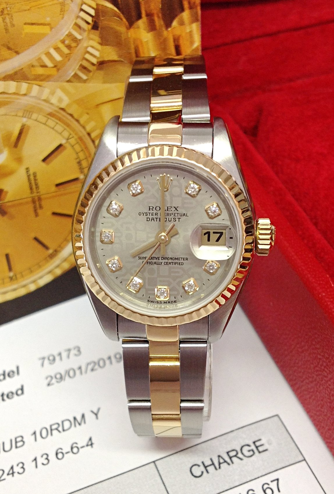 Rolex Datejust Lady 79173 26mm Diamond Dial