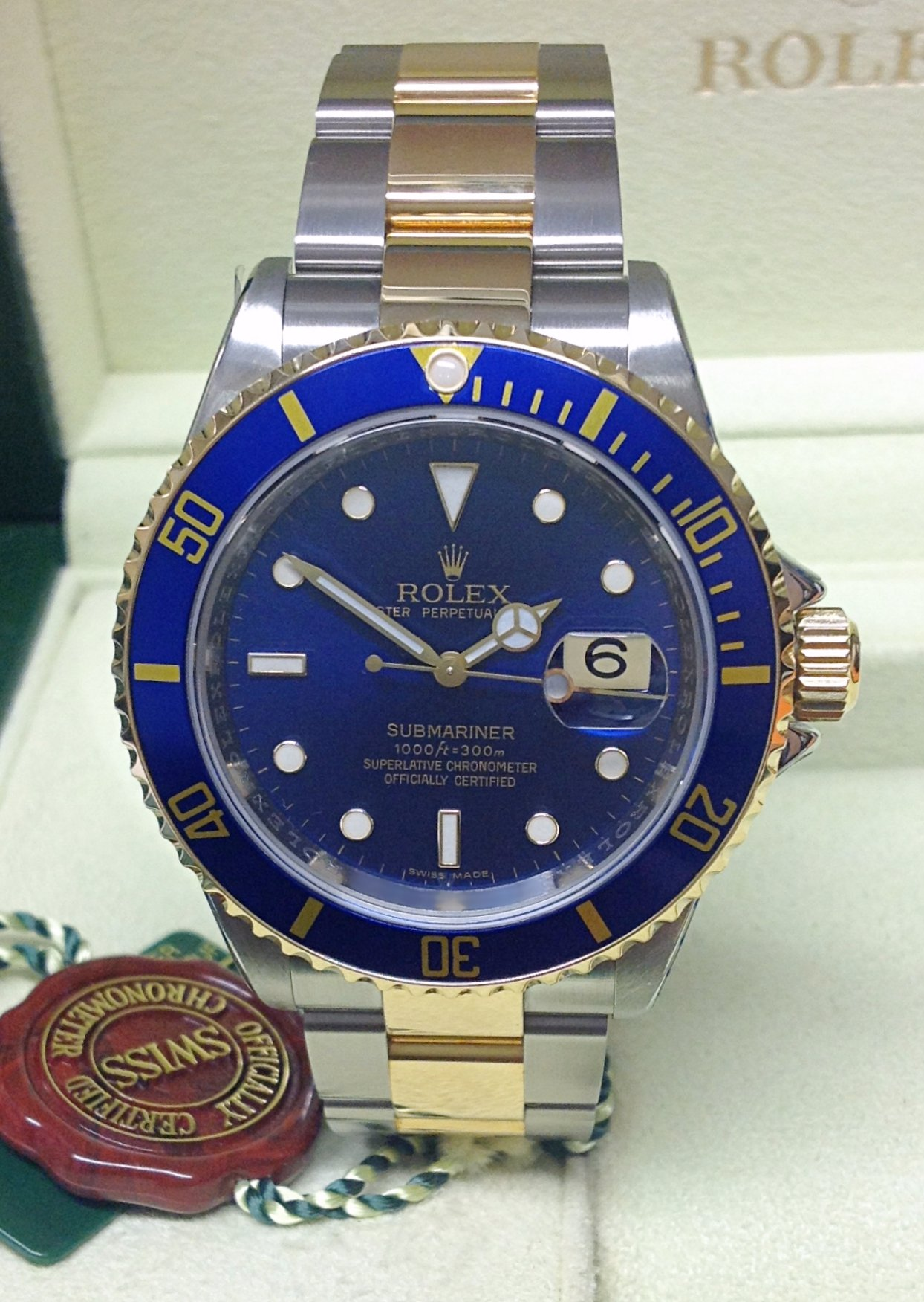 Rolex Submariner Date 16613 Bi/Colour Blue