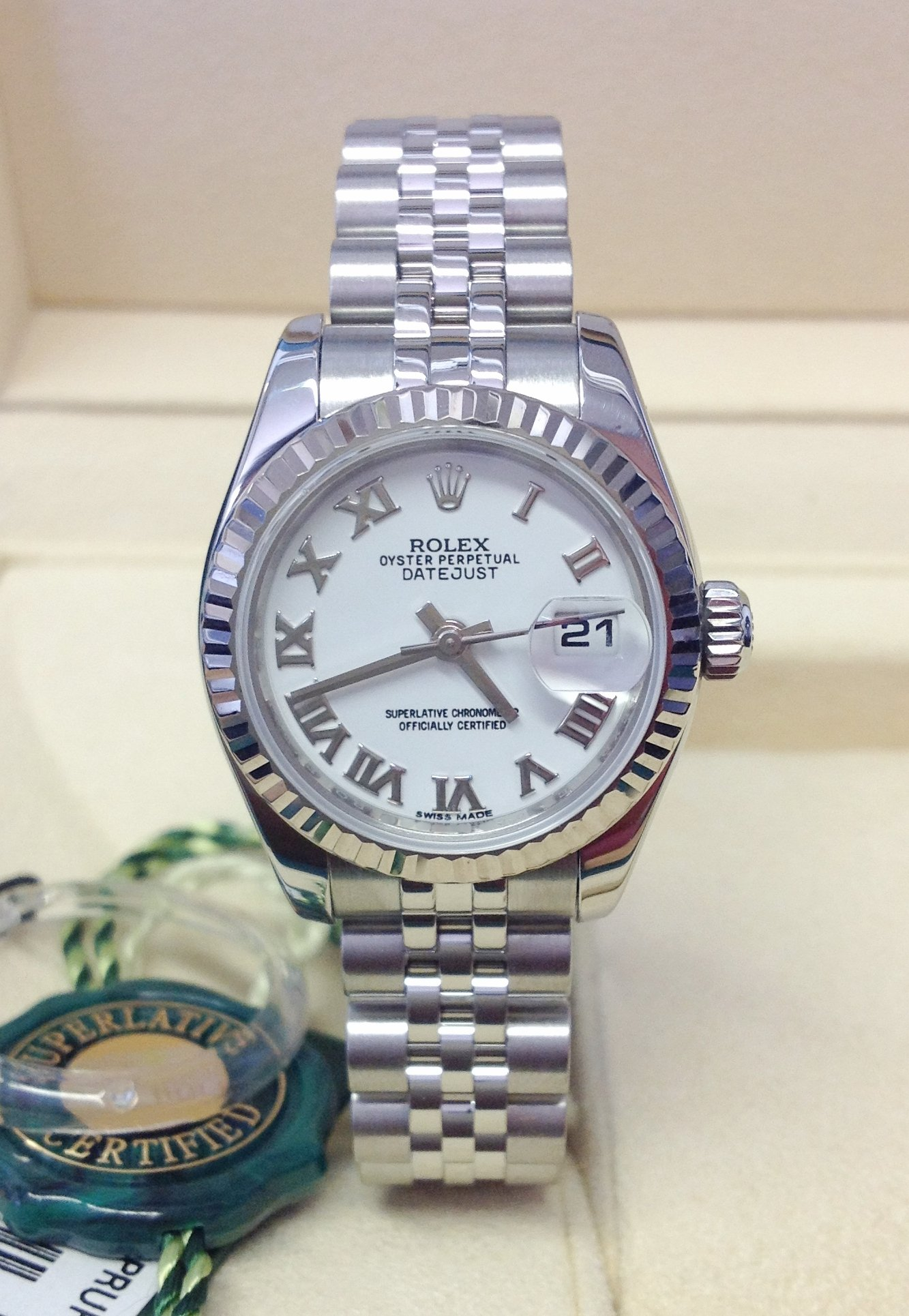 Rolex Datejust Lady 179174 26mm White Roman
