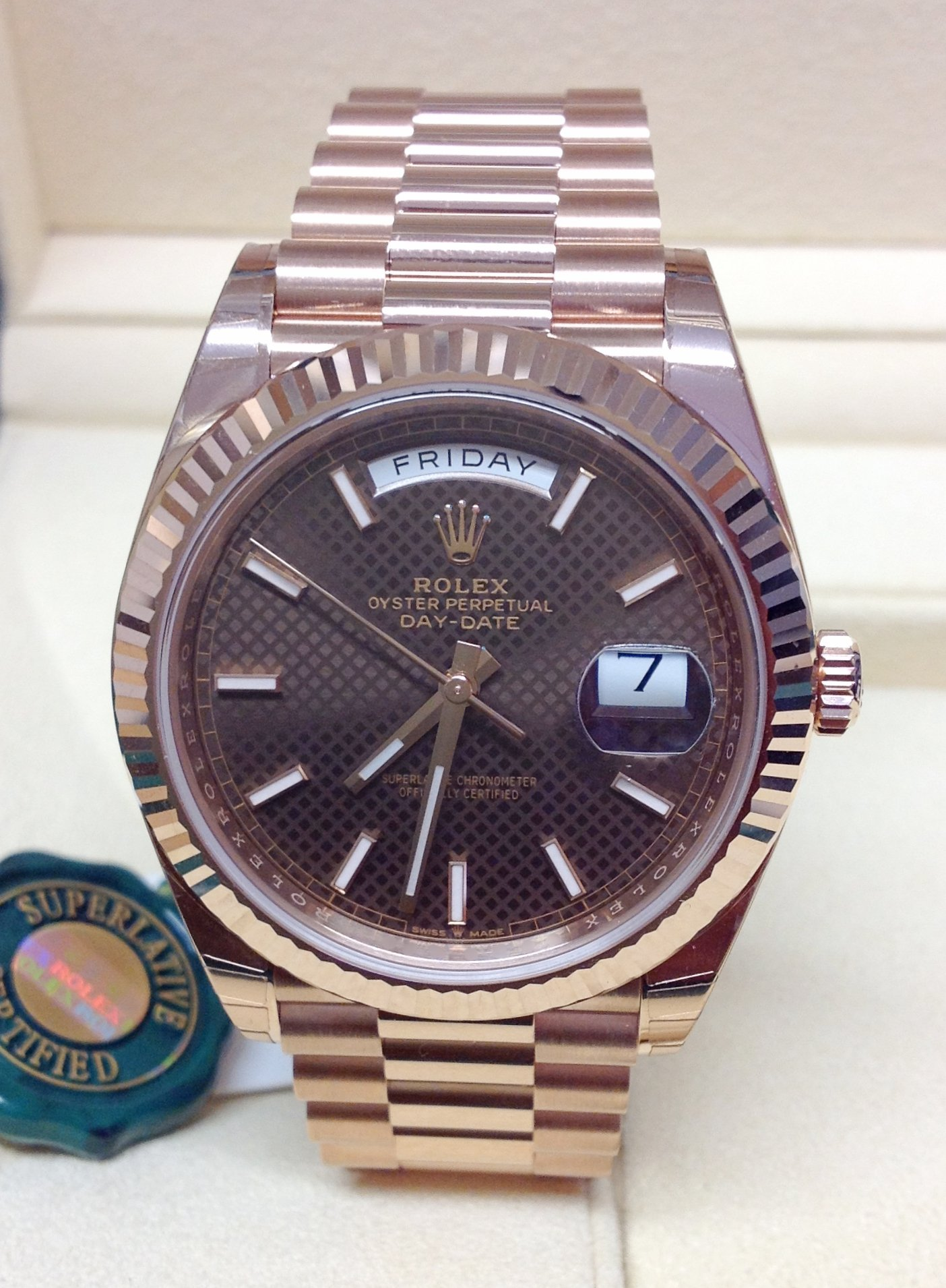 Rolex Day-Date 40 228235 Rose Gold