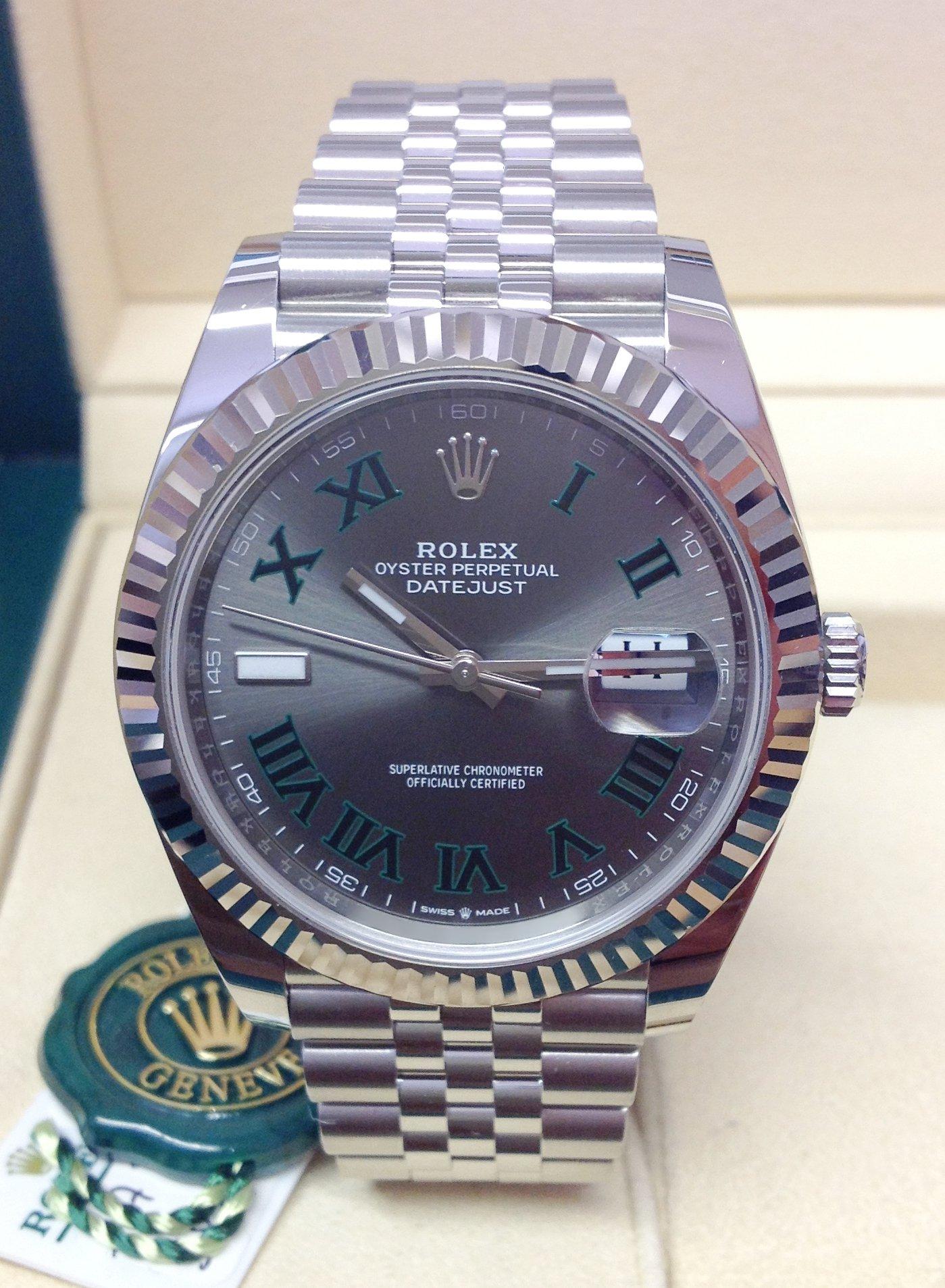 Rolex Datejust 41 126334 Wimbledon Dial