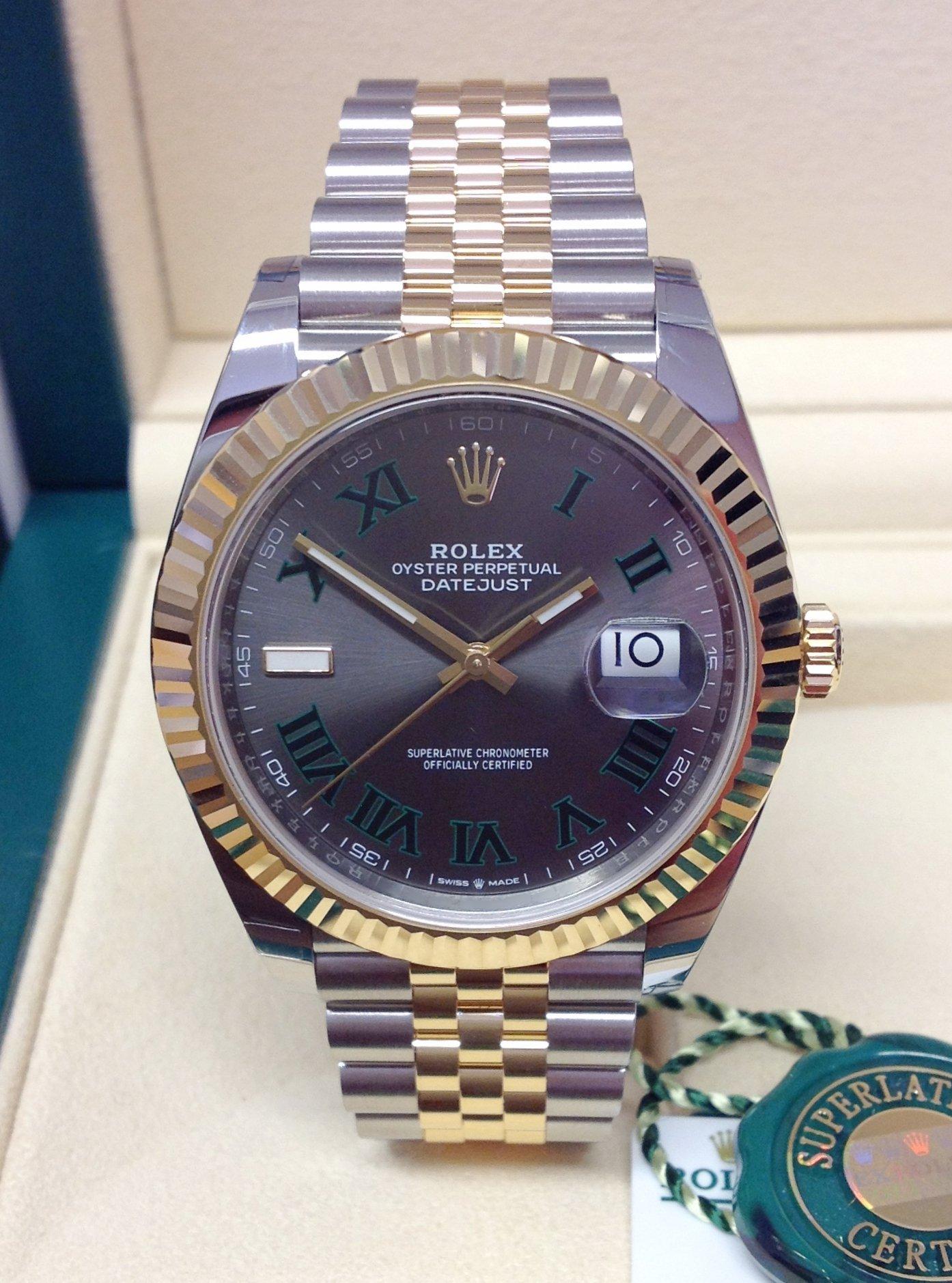 Rolex Datejust 41 126333 Bi/Colour Wimbledon Dial