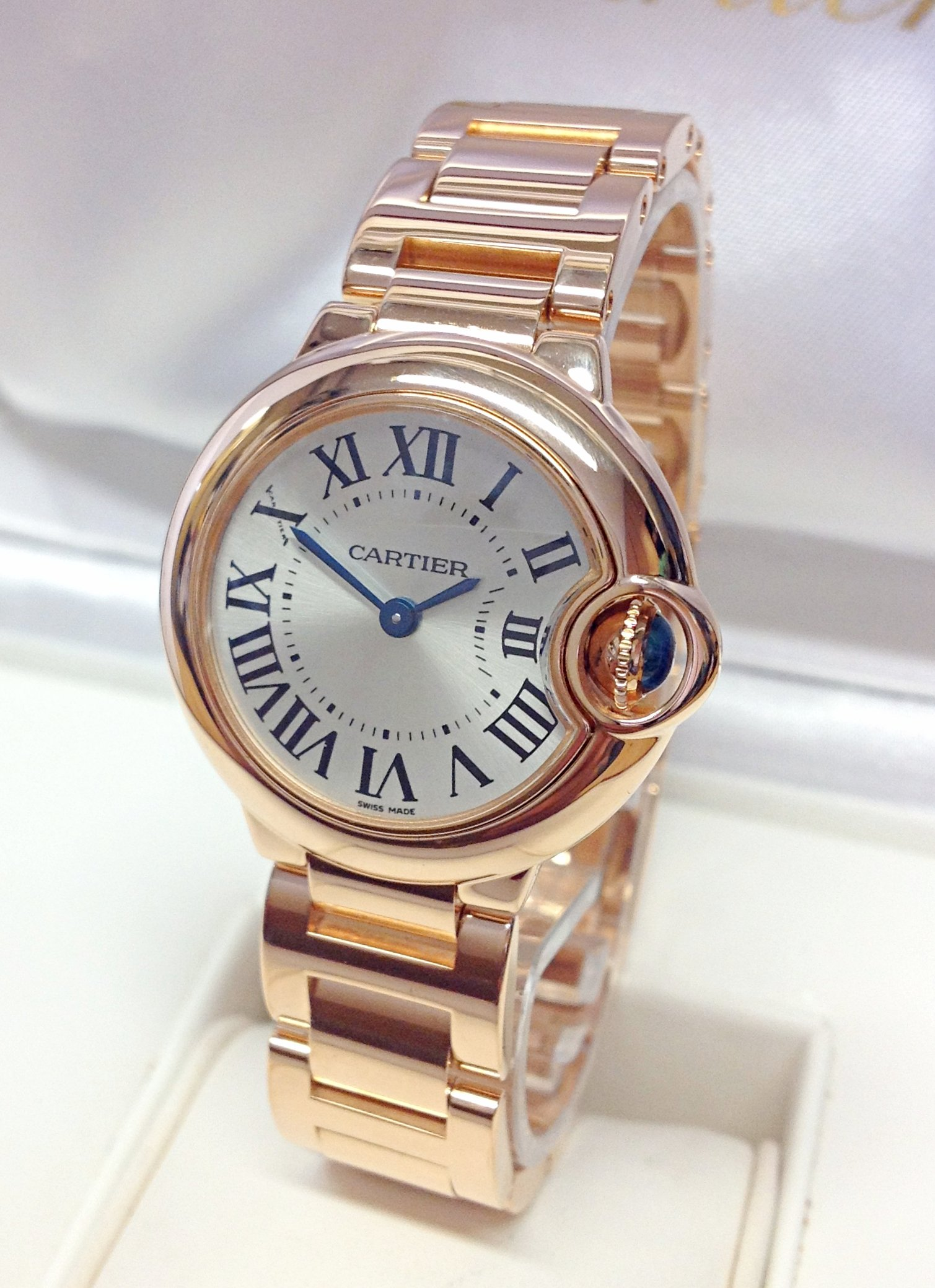 Cartier Ballon Bleu W69002Z2 28mm Rose Gold