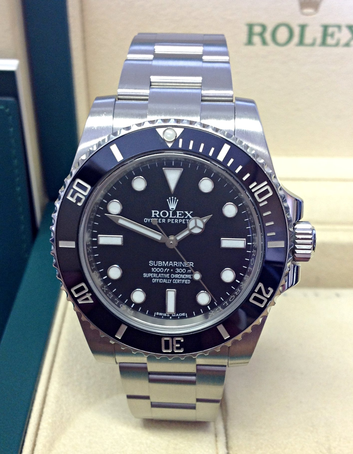 Rolex Submariner 114060 Black Ceramic