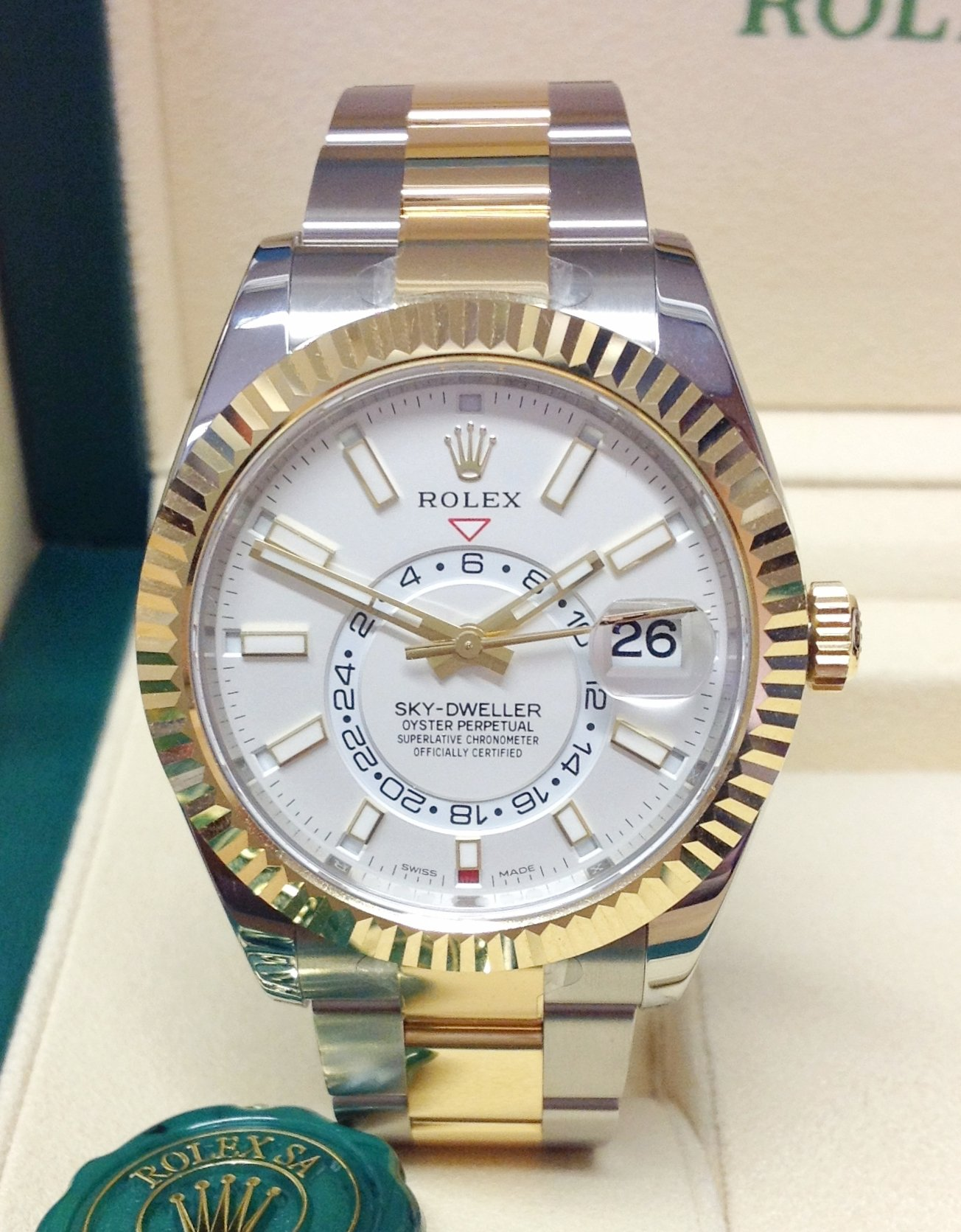 Rolex Sky,Dweller 326933 Bi/Colour Unworn
