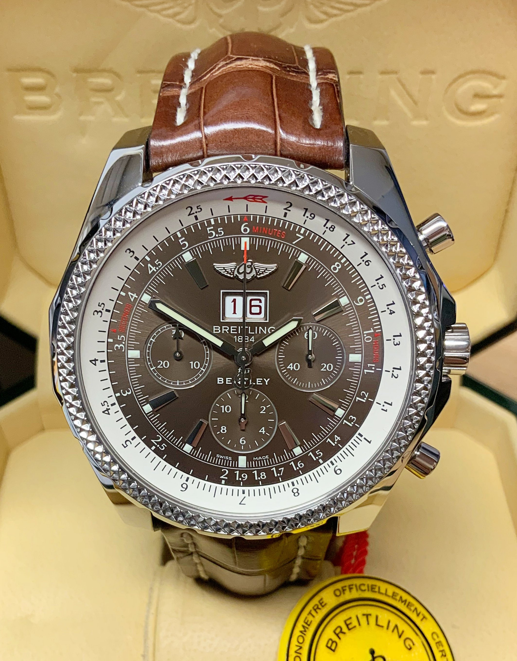 Breitling For Bentley 6 75 A44362 Bronze Dial
