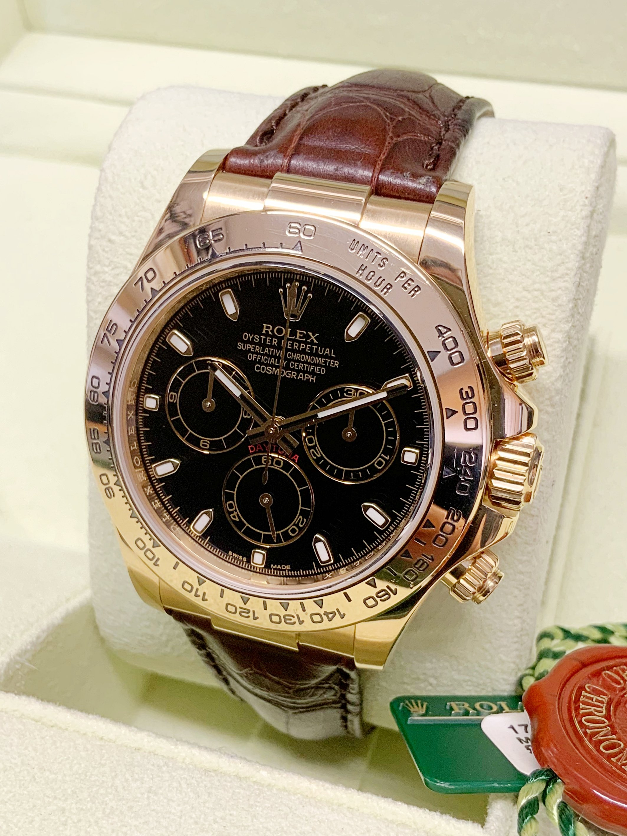 Rolex Daytona Yellow Gold 116518 Black Dial