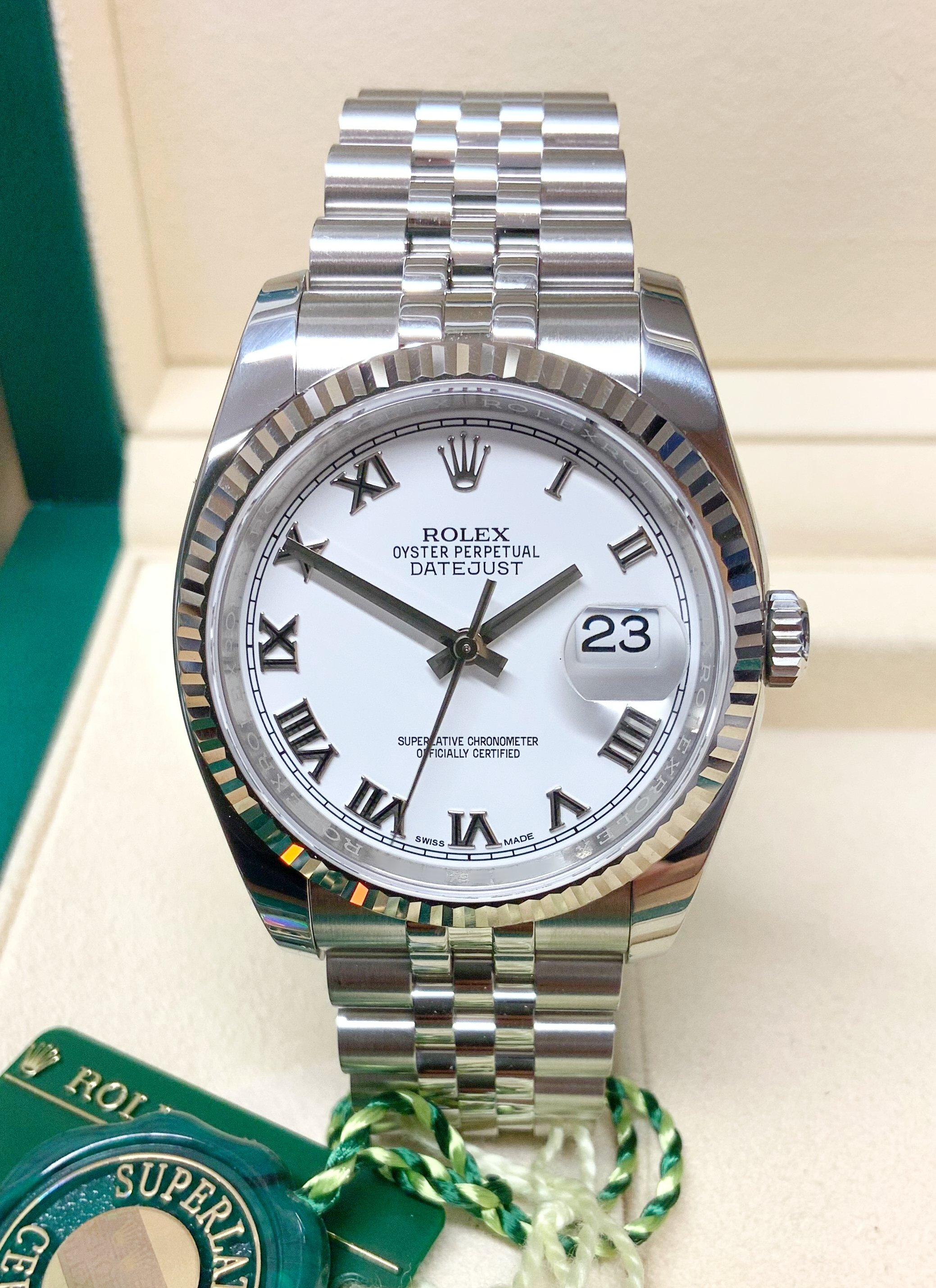 Rolex Datejust 36mm 116234 White Roman Dial