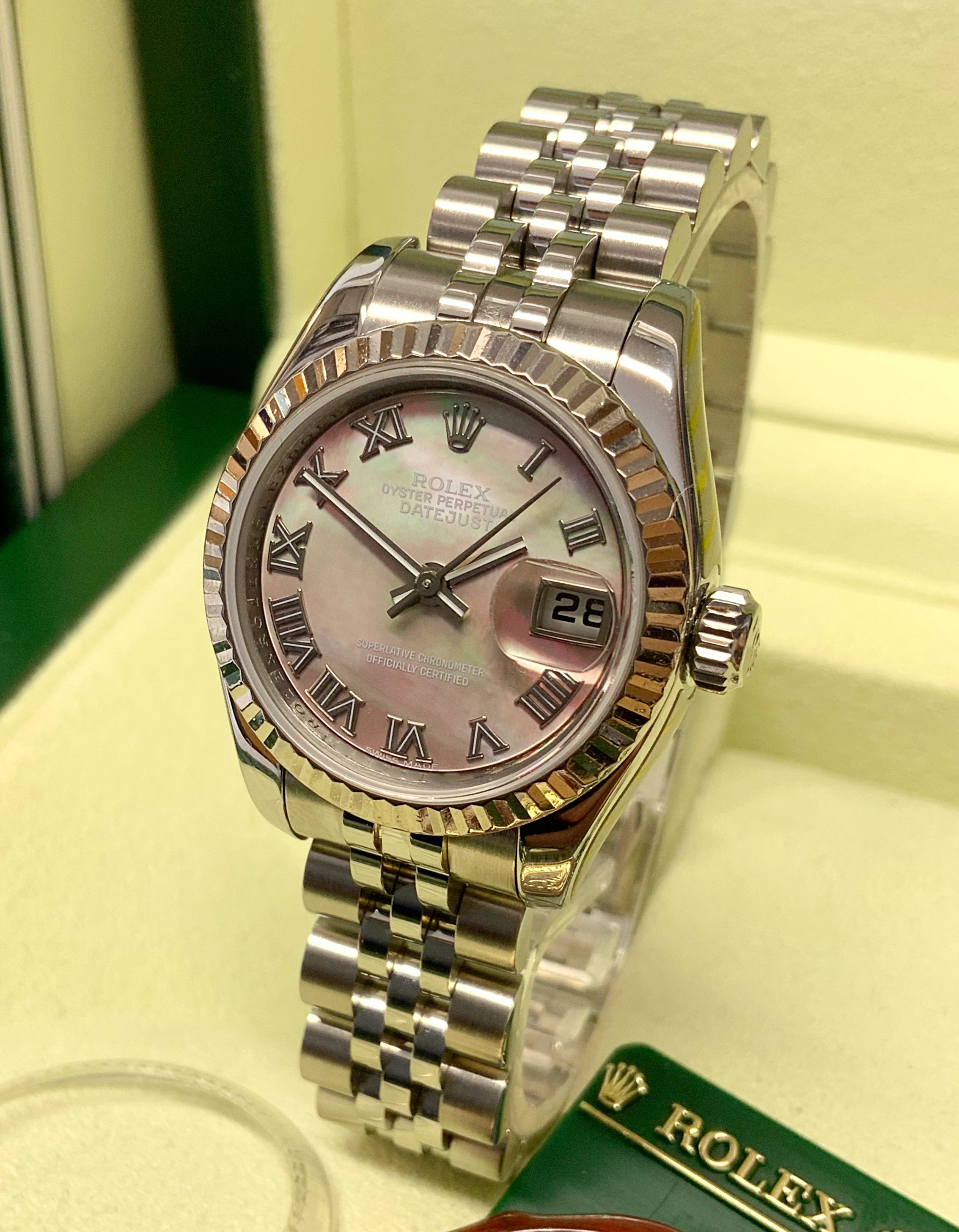 Rolex Datejust Lady 179174 26mm Black M.O.P