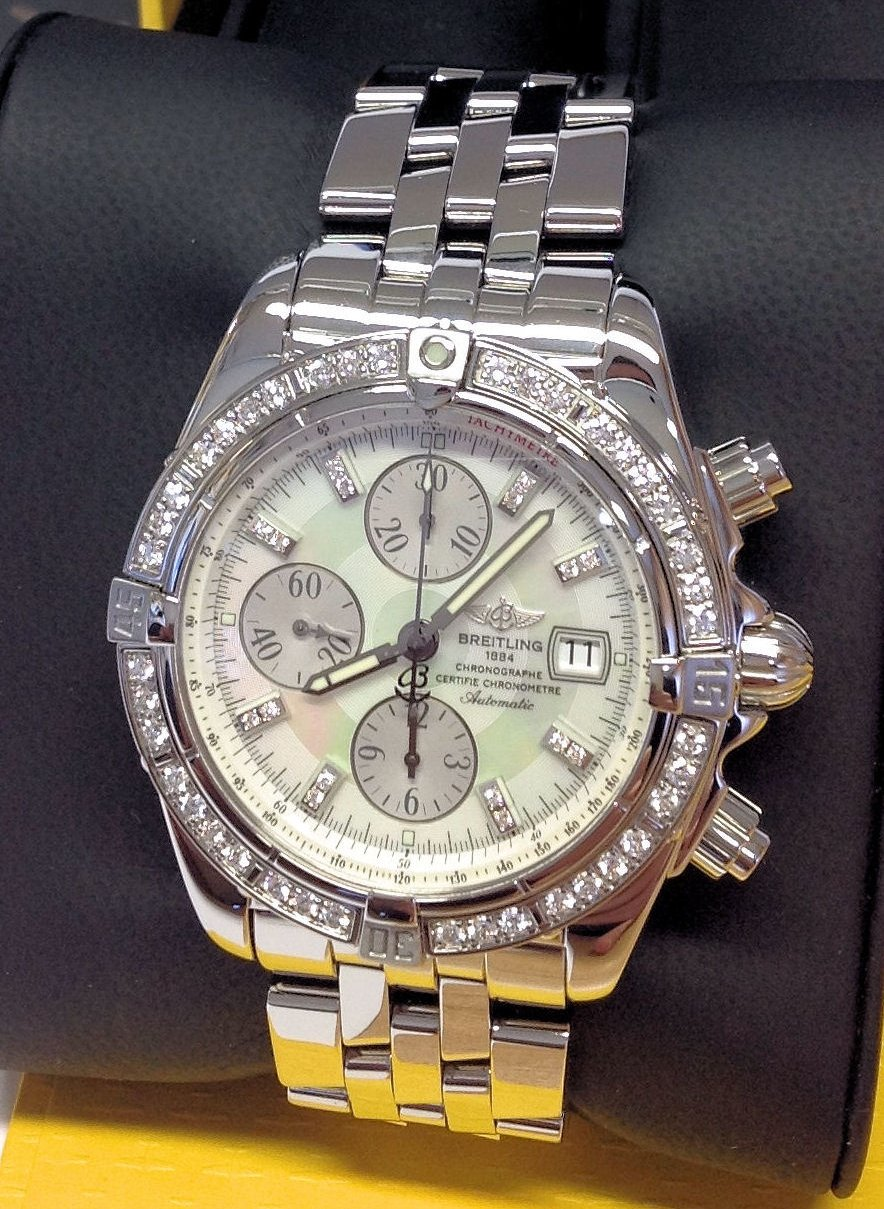 Breitling Chronomat Evolution A13356 Diamond Bezel