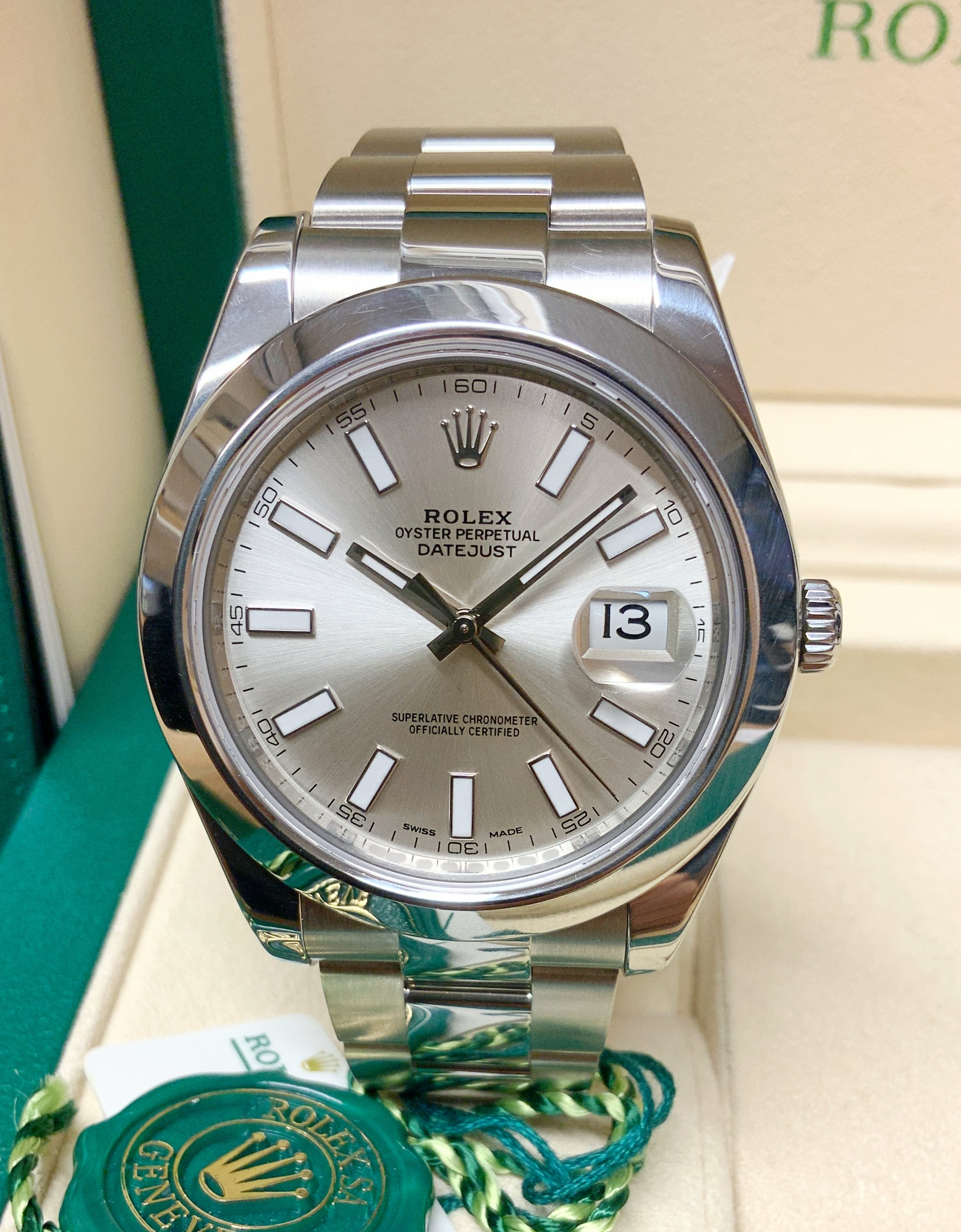 Rolex Datejust II 116300 41mm silver Dial